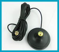 achat en gros de antennes wifi magnétiques-Antenne sans fil Base magnétique RP SMA connecteur avec 3M câble d'extension GSM 3G 4G WIFI Antenne Magnet stand Livraison gratuite