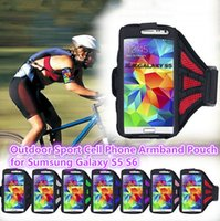 Wholesale Outdoor Sport Mobile Cell Phone Armband Case Holder Arm Pouch Bag for Running Cycling For Sumsung Galaxy S5 S6 i9600 i9500 i9300