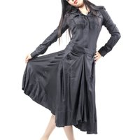 womens black dress shirt - High Class Womens Trendy Dress Excellent Quality Womens Black Dresses Ladies Autumn Ball Gown Dress MS003