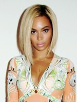 Cheap 2015 New beyonce wig lace front human hair bob short wig ladies lace human hair wigs two toned or ombre