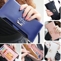 Wholesale 2015 new long in the wallet Han edition original ms multi function card bag L252 bowknot plug Capitol