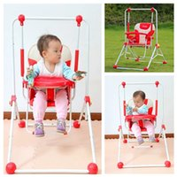Wholesale 3 Colors Indoor Baby Dining Chair High Grade Metal Outdoor Baby Swing Seat Hot Sale Foldable Infant Hanging Chair