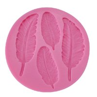 baking pottery - New Hot Feather Clay Pottery Mould Silicone Cake Mold Chocolate Mould DIY Baking Molds