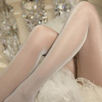 Wholesale Sexy Glitter Shimmer Shiny Pantyhose Tights Sheer Glossy Stockings Nude Grey