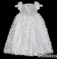 baby dedication - Heirloom Dedication Christening Gown Crystals Rhinestones Belt Blessing Dress with Bonnet Baby Baptism Robe For Boys Girls