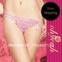 Cheap Free Shipping Best Price Sexy String Panty Brief Thong Sexy Lingerie Wholesale And Retail High Quality Color Pink P3716