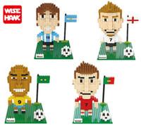 beckham toy - Wisehawk cm box BECKHAM Messi Ronaldo football Series Cartoon Figure blocks Toys for Kids Diamond Bricks Building Blocks