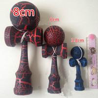 Wholesale full crack small size kendama Japanese traditional wooden toys kendama skills ball crack jade sword ball cm kendama best gift birthday