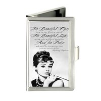 beautiful animal names - Audrey Hepburn For beautiful eyes Custom Unique Business Card Holder Pocket Wallet Name ID Credit Case Stainless Steel Box Case