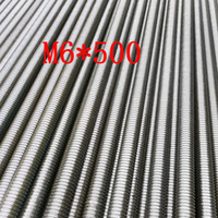 Wholesale SS304 Metric M6 Stainless Steel Threaded Rod Thread Bar length about mm