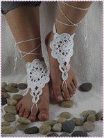 Wholesale 1 New fashion hot sale beach wedding barefoot sandals anklet crochet bikini anklet