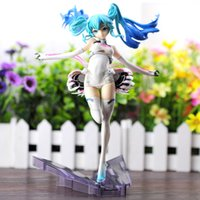 big scale racing - 22cm Vocaloid Hatsune Miku Racing miku Ver Scale Painted Figure Collectible Modelt Toy Gift