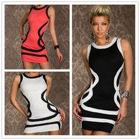 Bodycon Dresses plus size clubwear - Sexy Club Dresses Casual Dresses For Womens Plus Size Sleeveless Bodycon Dresses Clubwear With Pattern Zipper Back Nightwear CB9431