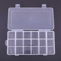 alps electronics - High Quality Clear Electronic Compartments Plastic Storage Box Jewelry Earring Case Bead Craft Container