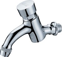 Wholesale Single Cold Wall Mounted Brass Delay Action Taps With Polish Chrome finishing