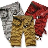running shorts - Mma Shorts Beach Shorts Sale Men New Men s Summer Multi pocket Cargo Pants Cotton Fashion Easing Outdoor Loose Running Plus Size
