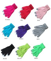 atm machine screen - New Hot Autumn Winter Soft Unisex Pure color Knit Touch Screen Gloves Texting Capacitive Smartphone for Iphone Ipad ATM machines