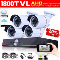 "Cheap HD 4CH DVR 1 3"" 1800TVL Sony CMOS 960p Outdoor D N Home Security CCTV AHD Camera System"