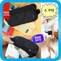 Wholesale Travel Money Passport Ticket Security Waist Zip Bag Pouch Belt Safety Zipper Pocket New Adjustable Elastic Strap