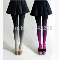 Wholesale New Arrival Candy Color Stockings Velet Sexy Elastic Flesh Impervious Sheer Pantyhose Tight Gradient Pantyhose Stockings