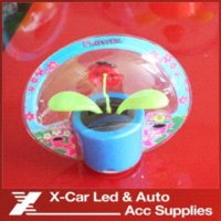 solar power flower - Car Solar Powered Ladybug Basket Solar Furnishing Articles Flowers And Plants Automatic Swing Car Ornaments Car Accessories M50990