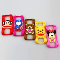 Cheap Universal Silicone Bumper Case For iPhone 6S Plus Samsung S6 edge+ Goophone i6 Plus Smartphone With Mickey Bear Stitch Monster Doll 300pcs