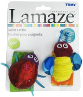 arrival ladybug - 2015 New arrival high quality Lamaza baby wrist rattle toys Bees and ladybug cartoon baby toy