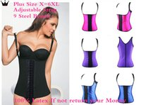 Wholesale Plus Size Latex Waist Training Corsets With Adjustable Strap Women Slimming Hot Shapers Waist Trainer Waist Cincher Steel Boned Corselet