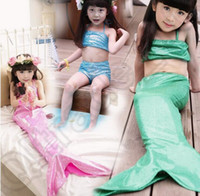 bathing suits for baby girls - 40SET HHA739 Baby Girls Bikini Fashion Girl Swimsuit Mermaid Tail For Swimming set swimsuit Kids Bathing Suits
