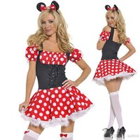 adult mouse costume - Sexy Minnie Mouse Dress Adult Halloween Costumes for Women Minnie Mouse Costume for Women Sexy Cosplay Sexy Fantasy Costumes