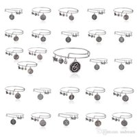 best european bands - Newest Fashion letter Alex and Ani adjustable Charm statement bracelets gold silver Wiring expandable pendant bangles band cuff Best gift