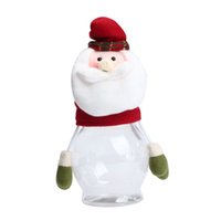 candy packaging supplies - Top Quality Sweet Santa Claus Christmas Candy Packaging Box Environment friendly PET Candy Jar Christmas Decoration Supplies S25
