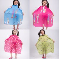 hair cutting cape - 5pcs quot x47 quot Child Kid Hair Cutting Waterproof Cape Barber Styling Salon Hairdressing Wrap Cartoon Sheep Capes Cloth Color