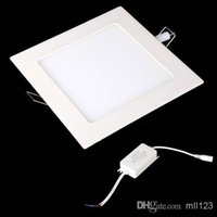 Wholesale 2X W AC V w Ultra Thin Square Ceiling Panel Light Wall Recessed Down Lamp LM SMD2835 LED Pure White