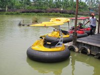 bumper boat - Laser Combat bumper boat adults and children playing in the park s lake
