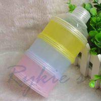 latex powder - solid PP latex free nitrosamine free infant baby powder milk storage box layers newborn food container food dispenser