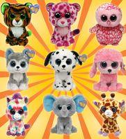 big giraffes - TY psc new crystal big eyes Animal toy series giraffe plush toy penguin plush toys children gift