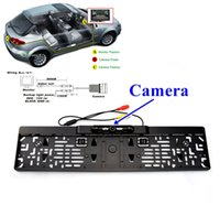 Wholesale Car Rear View Backup Reversing Camera Degree Wide Angle IR LED Night Vision European Plate License Holder LAB