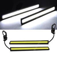 Wholesale 20pair Super Bright White Car COB LED Lights DRL Fog Driving Lamp Waterproof DC V