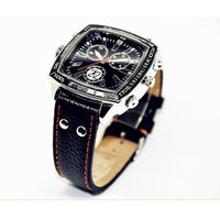 auto leather hides - Spy Watch Camera P leather belt IR Auto Open Nigth Vision watch hidden pinhole camera With Led light audio video recording web cam