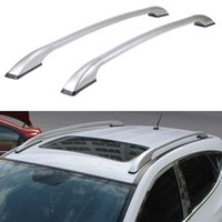 baggage carriers - Universal Car Styling Auto Roof Racks Side Rails Bars Baggage Holder Luggage Carrier Aluminum Alloy Accessories High Quality
