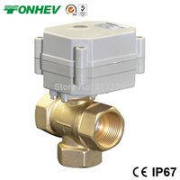 actuator control valve - T port vertical type DN20 Way DC5V electric actuator motorized ball valves