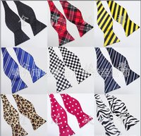 Wholesale Multi Color Imitation Silk Stripe Man s Self Bow Ties Bowtie Cravat Necktie