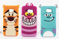 tigger - 3D Monsters Sulley Tigger Alice Cat Silicone Case For Samsung Galaxy S6 Edge A3 A5 A7 Grand Duos G7106 i9082 Core Prime G360 G530