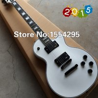 alpine photo - New arrive Alpine White Ebony fingerboard Black Hardware Cusotm LP electric guitar All Color are available Real photo shows