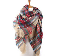 Wholesale 2016 women fashion Plaid Scarf Warm Soft Winter Blanket Scarf Oversized Tartan Scarf women Shawl Scarf Scarves Wraps fast shipping