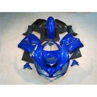 Wholesale ZX6R Motorcycle Fairing Kit For Kawasaki Year ZX636 Blue Black Motorbike Bodywork Fashion Painting Racing Cowling