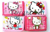 Wholesale 24PCS hello kitty wallet cute KT coin purse cartoon pocket for girls children best gift