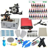 starter beginner - PRO Complete Starter Tattoo kit machines guns inks power supply Beginner Set