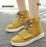 hip hop shoes - new winter Men and women s shoes Fashion High yeezy Casual shoes Skate Hip hop men Shoes chaussure homme femme